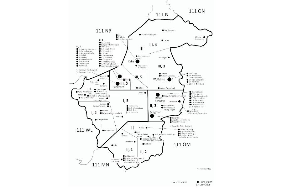 Die Clubs in unserem Distrikt / Stand: Frühjahr 2020