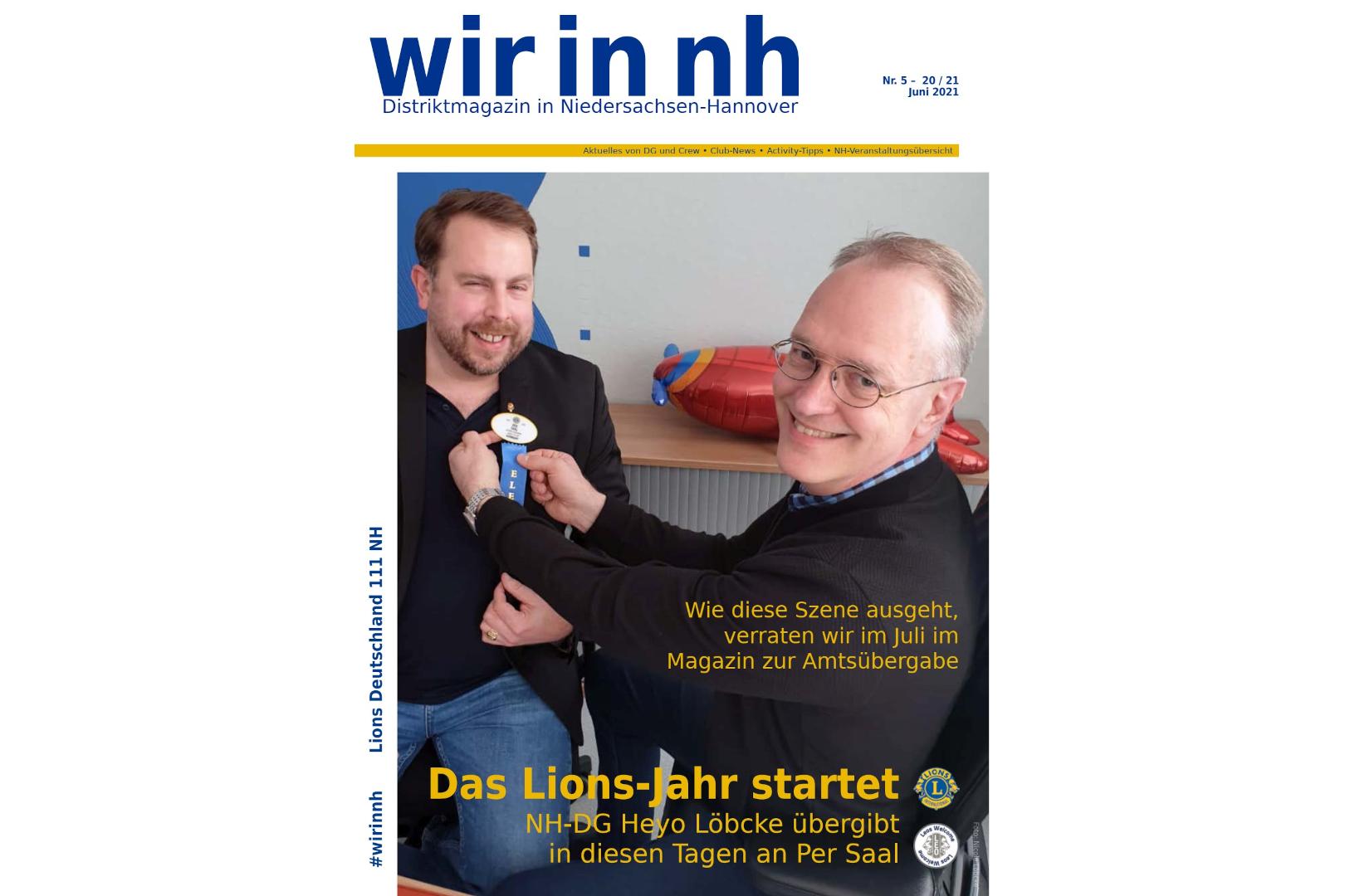 """Die aktuelle Ausgabe von """"wir in nh"""" - dem Distriktmagazin der Lions in 111NH"""